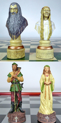 themed chess figures